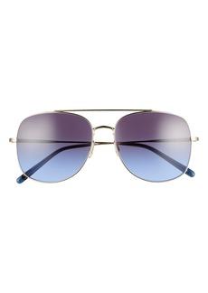 Oliver Peoples Taron 58mm Gradient Aviator Sunglasses