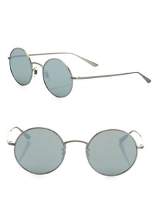 The Row For Oliver Peoples After Midnight 49MM Mirrored Round Sunglasses