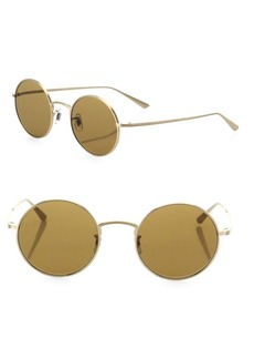 The Row For Oliver Peoples After Midnight 49MM Round Sunglasses