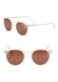 The Row For Oliver Peoples O'Malley NYC 48MM Mirrored Round Sunglasses