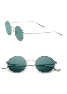 The Row For Oliver Peoples After Midnight 49MM Round Titanium Sunglasses