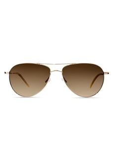 Oliver Peoples Unisex Benedict Aviator Sunglasses, 59mm
