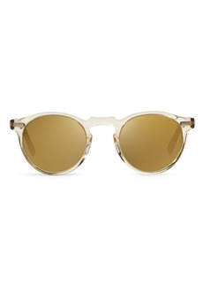 Oliver Peoples Unisex Gregory Peck Mirrored Sunglasses, 47mm