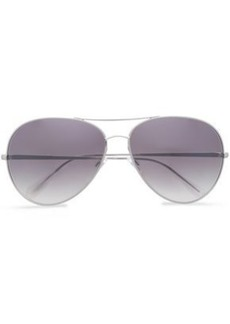 Oliver Peoples Woman Aviator-style Silver-tone Sunglasses Silver