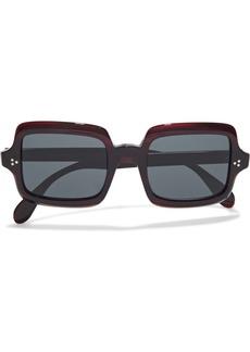 Oliver Peoples Woman Avri Square-frame Acetate Sunglasses Dark Brown