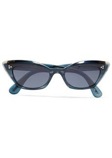 Oliver Peoples Woman Bianka Cat-eye Tortoiseshell Acetate Sunglasses Storm Blue