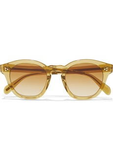 Oliver Peoples Woman Boudreau L.a. Round-frame Acetate Sunglasses Light Brown