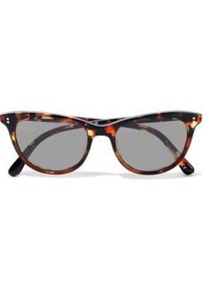 Oliver Peoples Woman Cat-eye Tortoiseshell Acetate Sunglasses Brown