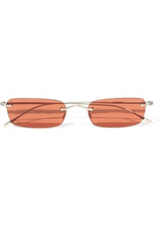 Oliver Peoples Woman Daveigh Rectangle-frame Gold-tone Sunglasses Gold