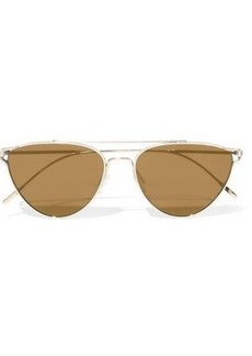 Oliver Peoples Woman Floriana Cat-eye Gold-tone Mirrored Sunglasses Gold