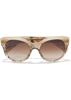 Oliver Peoples Woman Jacey Cat-eye Marbled Acetate Sunglasses Camel