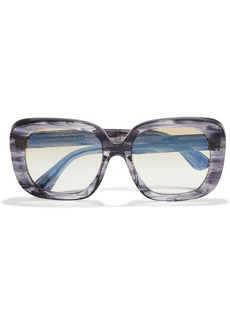 Oliver Peoples Woman Nella Oversized Square-frame Marbled Acetate Sunglasses Anthracite
