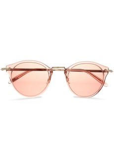 Oliver Peoples Woman Op-505 Round-frame Acetate And Gold-tone Sunglasses Blush