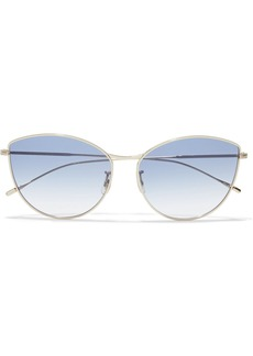 Oliver Peoples Woman Rayette Cat-eye Gold-tone Sunglasses Gold