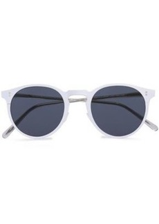 Oliver Peoples Woman Round-frame Coated-metal And Acetate Sunglasses Off-white