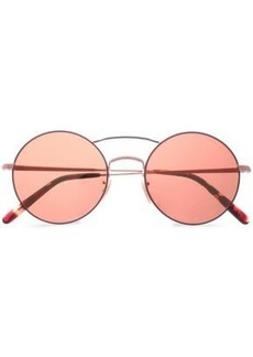 Oliver Peoples Woman Round-frame Rose Gold-tone Sunglasses Magenta