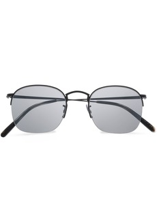 Oliver Peoples Woman Square-frame Gold-tone Sunglasses Black