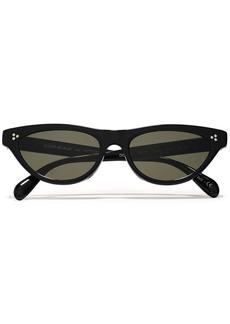 Oliver Peoples Woman Zasia Cat-eye Acetate Sunglasses Black