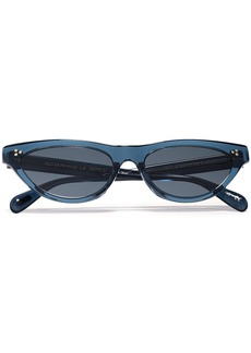 Oliver Peoples Woman Zasia Cat-eye Acetate Sunglasses Cobalt Blue