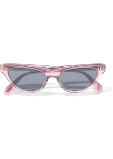 Oliver Peoples Woman Zasia Cat-eye Acetate Sunglasses Lavender