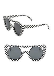 Oliver Peoples x Alain Mikli Checkerboard Aviator Sunglasses