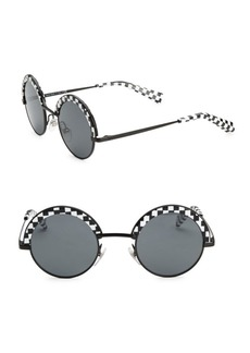 Oliver Peoples X Alain Mikli Checkerboard Round Sunglasses