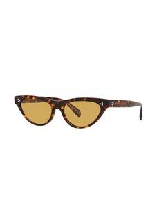 Oliver Peoples Zasia Cat-Eye Acetate Sunglasses w/ Inlaid Studs