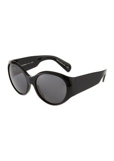 Oliver Peoples Oversized Round Acetate Sunglasses