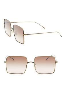 Oliver Peoples Rassine 56MM Square Sunglasses