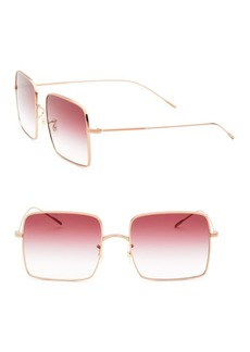 Oliver Peoples Rassine 56MM Square Sunglasses