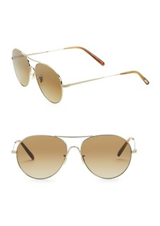 Oliver Peoples Rockmore 58MM Aviator Sunglasses