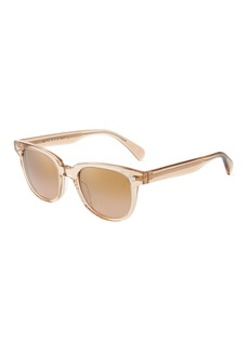 Oliver Peoples Round Transparent Acetate Sunglasses
