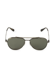 Oliver Peoples Rikson 56MM Polarized Aviator Sunglasses