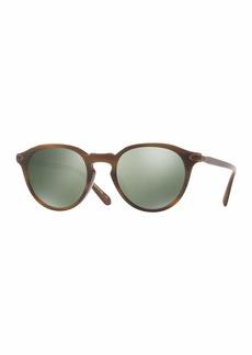 Oliver Peoples Rue Marbeuf 52 Round Polarized Acetate Sunglasses