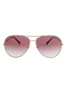 Oliver Peoples Sayer Oversized Aviator Sunglasses
