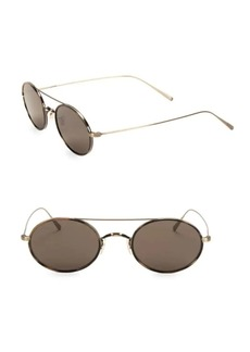 Oliver Peoples Shai 48MM Tinted Titanium Round Sunglasses