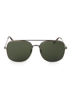 Oliver Peoples Taron 58MM Aviator Sunglasses