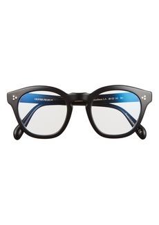 Women's Oliver Peoples Boudreau 48mm Square Blue Light Filtering Glasses - Black/ Clear