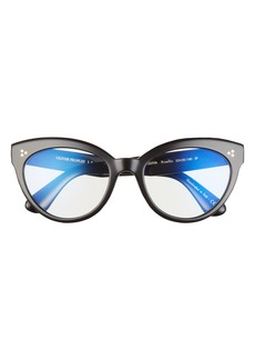 Women's Oliver Peoples Roella 55mm Cat Eye Blue Light Filtering Glasses - Black/ Clear