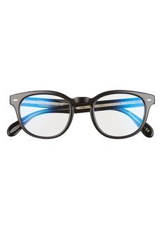Women's Oliver Peoples Sheldrake 49mm Blue Light Blocking Glasses - Black/ Clear