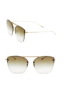 Oliver Peoples Ziane 61MM Gradient Round Sunglasses