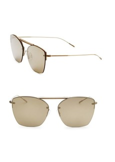 Oliver Peoples Ziane 61MM Mirrored Round Sunglasses