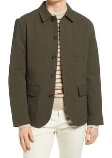 Oliver Spencer Cowboy Stretch Seersucker Cotton Jacket