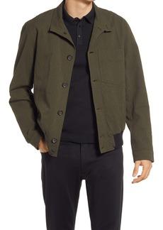 Oliver Spencer Men's Ryde Seersucker Bomber Jacket