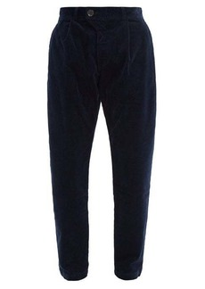 Oliver Spencer Pleated cotton-blend corduroy trousers