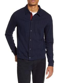 Oliver Spencer Rundell Slim Fit Snap Front Organic Cotton Jacket
