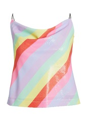 Olivia Rubin Clover Sequin Striped Camisole