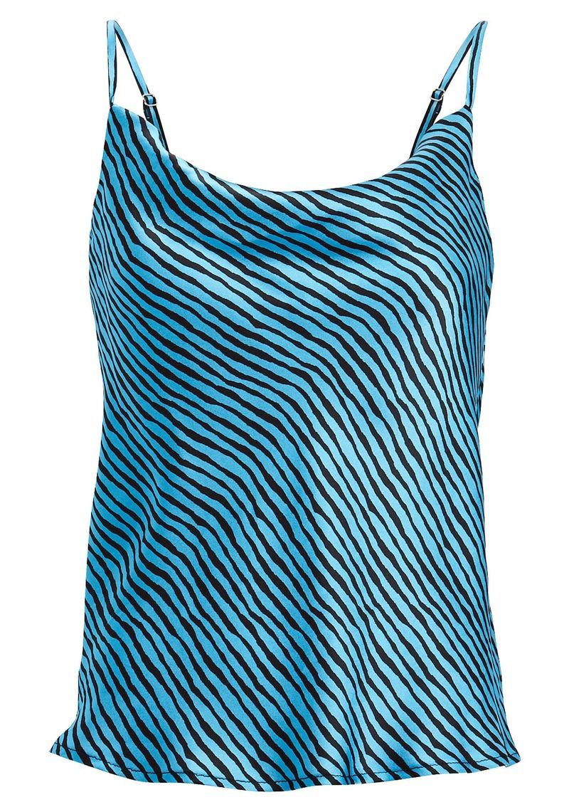 Olivia Rubin Clover Striped Silk Camisole