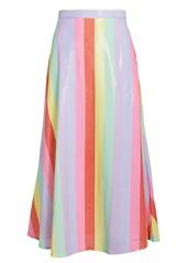 Olivia Rubin Penelope Rainbow Sequin Striped Skirt