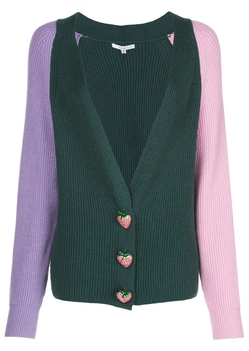 Olivia Rubin strawberry knit cardigan